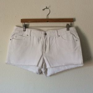 {Michael Kors} White Denim Shorts